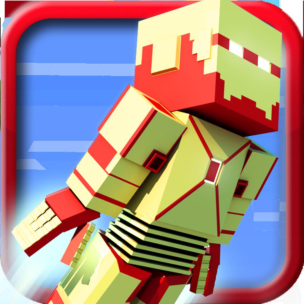 Download block iron robot 3d original mini survival for Block craft 3d online play